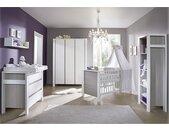 Schardt Babyzimmer Milano Pinie Silber/Weiß Melamin Dekor 78x82x150 cm (BxHxT) Modern