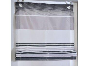 Kutti Raffrollo Jamaica Grau Gestreift 120x130 cm (BxH) Webstoff