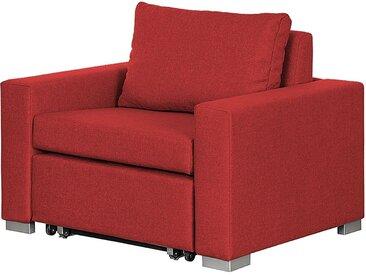 mooved Schlafsessel Latina IV Rot Webstoff mit Schlaffunktion/Bettkasten 110x90x90 cm (BxHxT)