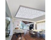 Paul Neuhaus LED-Deckenpaneel Sternenhimmel Modern Eisen Weiß Quadratisch 30x3.5x30 cm (BxHxT) 2-flammig inkl. Leuchtmittel