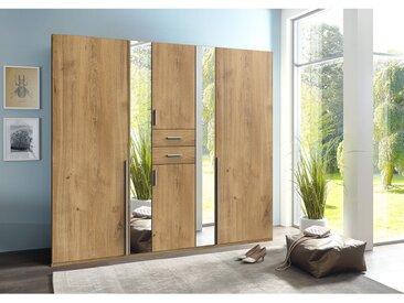 Wimex Drehtürenschrank Vanea Plankeneiche Dekor mit Spiegel 225x210x58 cm (BxHxT) Spanplatte Modern