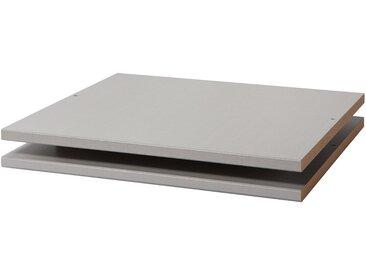 Express Möbel Fachböden Express Silbergrau 50x2x55 cm (BxHxT) Spanplatte