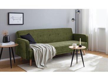 Mørteens Schlafsofa Daru 2-Sitzer Grün Samtvelour 210x82x88 cm mit Schlaffunktion