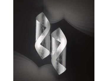 Wofi LED-Wandleuchte Safira Silber Eisen 2-flammig 3W 21x10x42 cm (BxHxT) inkl. Leuchtmittel