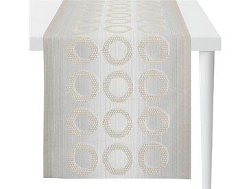 Apelt Tischläufer Capela Platingrau Mischgewebe 48x5x140 cm (BxHxT)