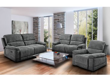 Modoform Sofa Leticia 2-Sitzer Grau Mikrofaser 153x96x93 cm (BxHxT) Modern
