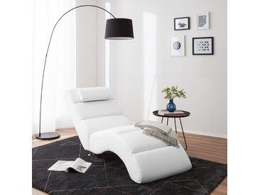 Fredriks Relaxliege Califfo Weiß Kunstleder 66x84x175 cm (BxHxT)