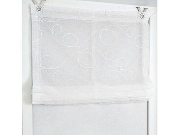 Kutti Raffrollo Jasmin Weiß 45x130 cm (BxH) Webstoff