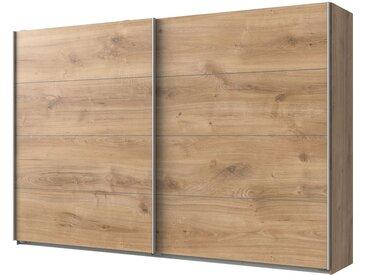 Wimex Schwebetürenschrank Easy Plus II Plankeneiche Dekor 225x210x65 cm (BxHxT) Spanplatte Modern