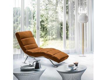 loftscape Relaxliege Kasson I Cognac Microfaser 170x95x65 cm (BxHxT)