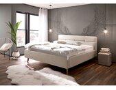 meise.möbel Polsterbett Lotte 160x200 cm Webstoff Beige mit Bettkästen/Lattenrost