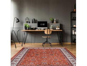 Kayoom Kurzflorteppich Scotland - Glasgow Rost Rechteckig 150x80 cm (BxT) Orientalisches Design Webstoff