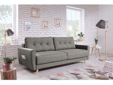 Mørteens Sofa Sola 3-Sitzer Grau Webstoff 215x90x90 cm
