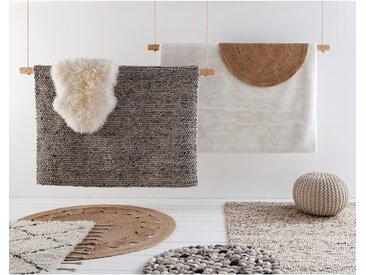 Top Square Wollteppich Valera Beige/Grau Quadratisch 160x230 cm (BxT) Modern Wolle
