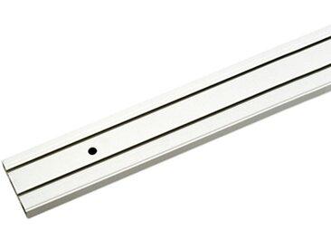 Gardinenschiene 2-läufig Weiß Kunststoff