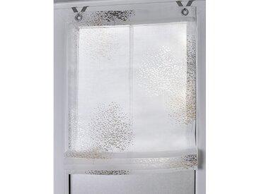 Kutti Raffrollo Bellinda Weiß Geblümt 60x140 cm (BxH) Webstoff