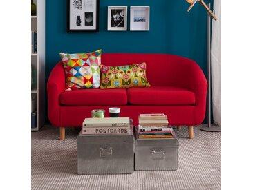Mørteens Sofa Little 2-Sitzer Rot Webstoff 140x74x74 cm
