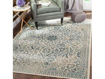 Safavieh Vintage-Teppich Cordova Vintage Beige/Dunkelblau Rechteckig 200x280 cm (BxT) Modern Vintage Design Kunstfaser