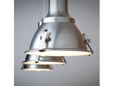 Steinhauer Pendelleuchte Parade Metall Nickel Industrial Dimmbar 120x16x17 cm (BxHxT) 3-flammig E27