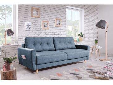 Mørteens Sofa Sola 3-Sitzer Taubengrau Webstoff 215x90x90 cm
