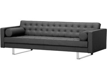 Fredriks Sofa Chelsea 3-Sitzer Anthrazit Echtleder 216x68x85 cm (BxHxT) Modern
