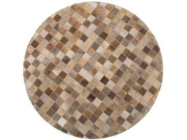 Luxor living Fellteppich Horizonte Braun Rund 100x100 cm (BxT) Natur Design Rinderfell