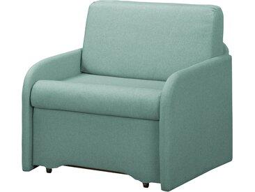 Fredriks Schlafsessel Disley II Babyblau 100% Polyester mit Schlaffunktion/Bettkasten 90x84x84 cm (BxHxT)