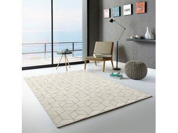 Top Square Hochflorteppich Opus Creme Rechteckig 160x230 cm (BxT) Skandi Mischgewebe