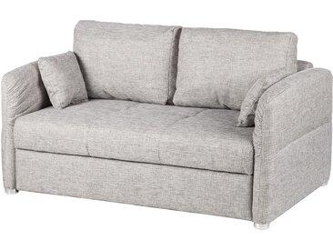 Home Design Schlafsofa Billimora Hellgrau Strukturstoff 220x85x110 cm mit Schlaffunktion