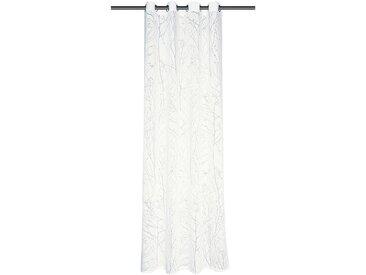 Schöner Wohnen Kollektion Ösenschal Twig Weiß Modern 140x245 cm (BxT) Mischgewebe