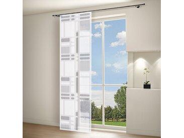 Gerster Flächenvorhang Svenja Anthrazit Modern 60x245 cm (BxH) Kunstfaser