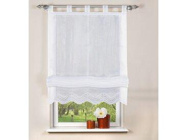 Home Wohnideen Schlaufenrollo Baja Weiß Modern 140x140 cm (BxH) Kunstfaser