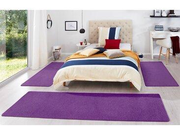 Hanse Home Bettumrandung Fancy 3-teilig Violett 67x250 cm (BxT) Kunstfaser Rechteckig