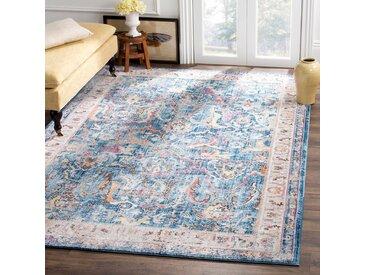 Safavieh Vintage-Teppich Myra Vision Marineblau Rechteckig 120x180 cm (BxT) Modern Vintage Design Kunstfaser