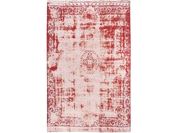 Luxor living Vintage-Teppich Barock Rot/Creme Rechteckig 160x230 cm (BxT) Vintage Design Mischgewebe
