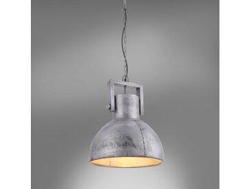 Leuchten Direkt Pendelleuchte Samia II Eisen Silber 40x45x40 cm (BxHxT) 1-flammig E27