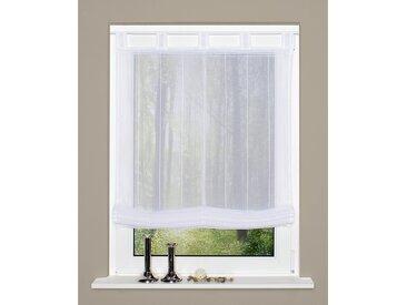 Home Wohnideen Schlaufenrollo Dabuka Weiß Modern 140x140 cm (BxH) Kunstfaser