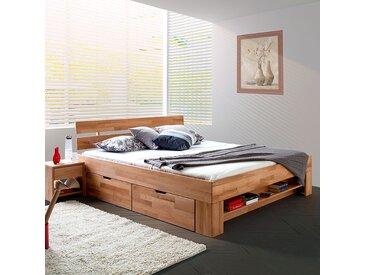 Ars Natura Massivholzbett EosWOOD 140x200 cm Massivholz Kernbuche mit Bettkasten