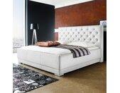 meise.möbel Polsterbett Pisa 180x200 cm Kunstleder Weiß