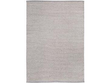 Wohnidee Wollteppich Wohnidee Liv Hellgrau Rechteckig 120x170 cm (BxT) Baumwolle