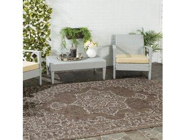 Safavieh In & Outdoor Teppich Mirabelle Braun/Beige Rechteckig 90x150 cm (BxT) Modern Vintage Design Kunstfaser