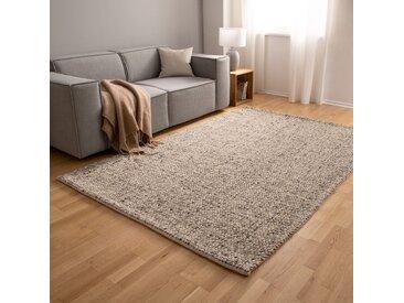 Top Square Wollteppich Savona Beige/Grau Rechteckig 160x230 cm (BxT) Modern Gepunktet Wolle