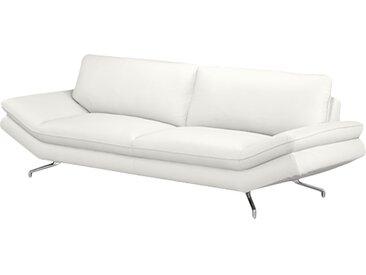 loftscape Sofa Sharon 2,5-Sitzer Weiß Echtleder 215x83x95 cm (BxHxT) Modern