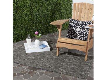 Safavieh In & Outdoor Teppich Biarritz Schwarz Rechteckig 90x150 cm (BxT) Modern Kunstfaser