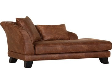 Red Living Recamiere Maggie 3-Sitzer Cappuccino Microfaser 202x80x103 cm (BxHxT) Industrial