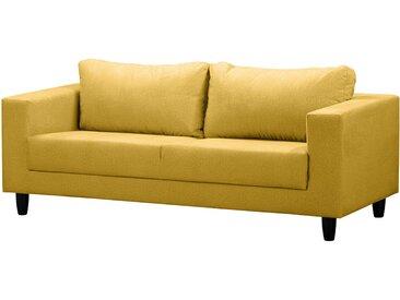 Mørteens Sofa Bexwell II 3-Sitzer Senfgelb 100% Polyester 180x80x75 cm (BxHxT) Skandi