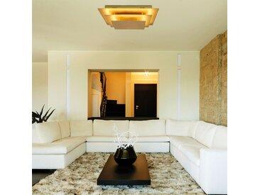 Näve LED-Deckenleuchte Firenze Edelstahl Gold 40x11x40 cm (BxHxT) Dimmbar 1-flammig 18W inkl. Leuchtmittel