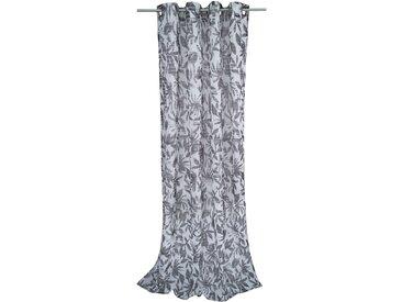 Tom Tailor Ösenschal T-Batic Leaves Weiß/Grau 140x245 cm (BxH) Webstoff