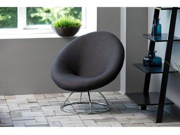 Fredriks Loungesessel Lawton I Anthrazit Webstoff 85x82x82 cm (BxHxT)