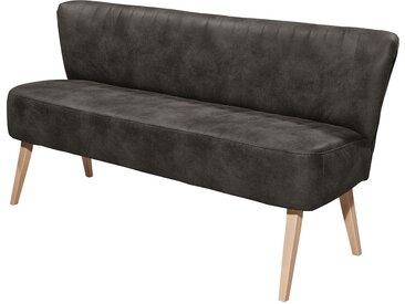 ars manufacti Sitzbank Rotnes 3-Sitzer Basalt Microfaser 184x87x69 cm